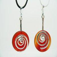 Carnelian Life energy Scalar Designs Jewellery, best scalar energy pendants
